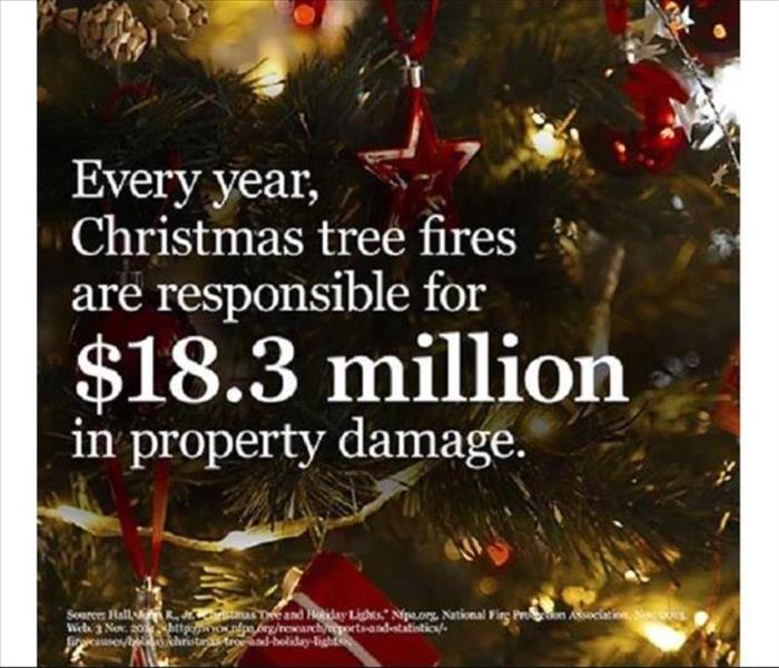 Fire Damage Prevent a Deadly Christmas tree fire!!!